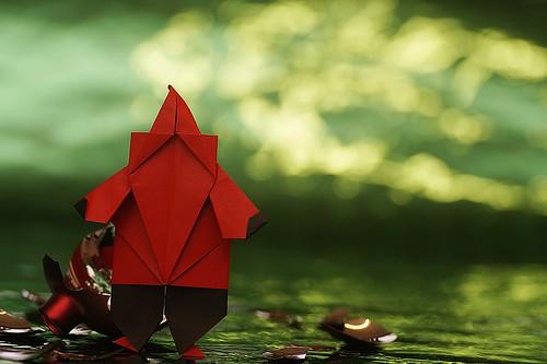 Origami Santa (Florence Temko)