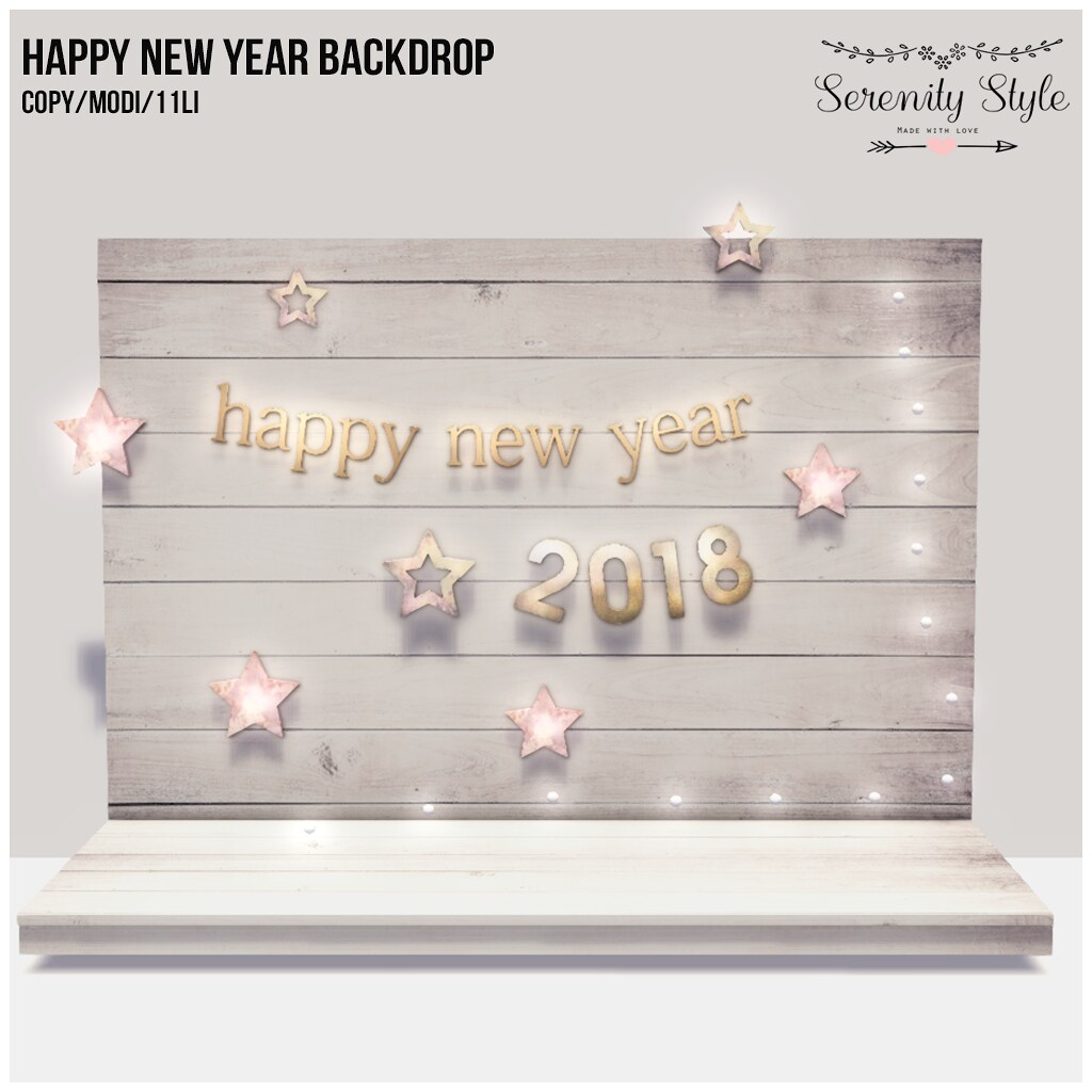 Serenity Style- Happy New Year Backdrop GIFT