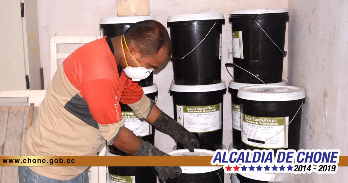 Estación de Bombeo Amazonas cuenta con químicos para combatir malos olores