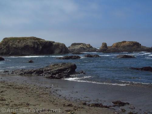 Sea stacks along Glass Beach, California