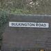Bedworth Station - Bulkington Road, Bedworth - road sign