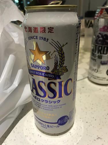 帰りの船でサッポロクラッシックを飲みながら駄弁る。最高に素晴らしい