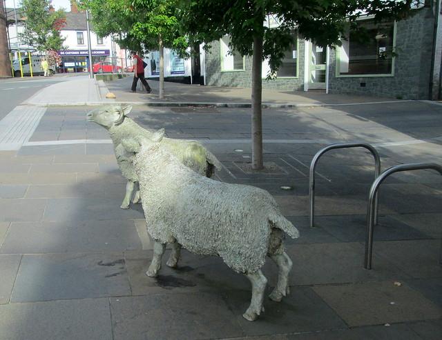 Lockerbie Sheep Statues