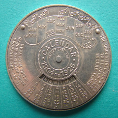 Christmas calendar medal obverse