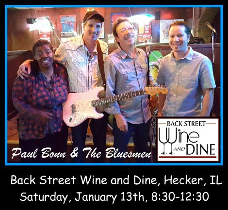 Paul Bonn & The Bluesmen 1-13-18