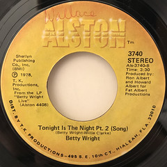 BETTY WRIGHT:TONIGHT IS THE NIGHT(LABEL SIDE-B)