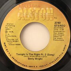 BETTY WRIGHT:TONIGHT IS THE NIGHT(LABEL SIDE-B)