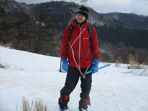 来てくれた吉田くんもなかなか登山家っぽい佇まい
