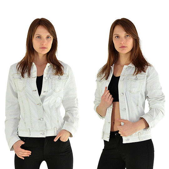 Damen Jeans Jacke Jeansjacke Jäckchen Bolero kurz schwarz blau Top Modelle