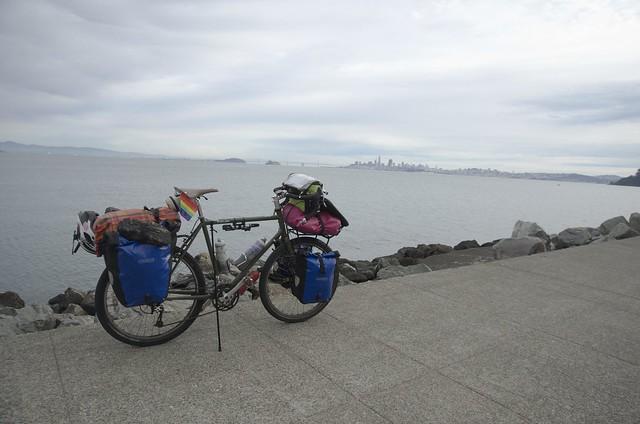 Yonder posing in front of San Francisco