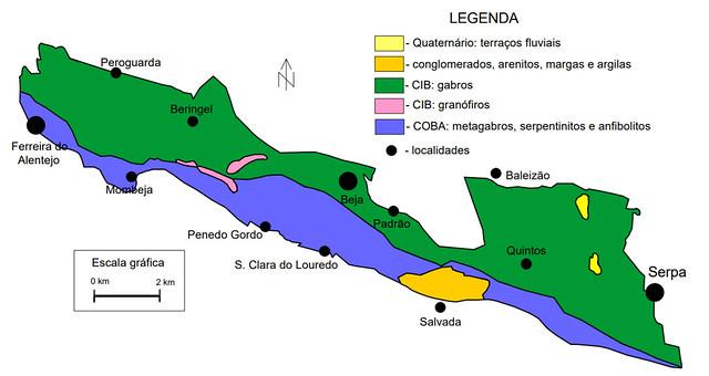 Enquadramento geológico do CIB