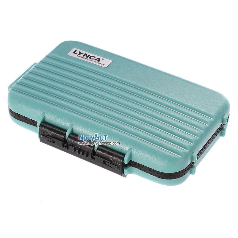 Hộp thẻ nhớ LYNCA KH6 chống nước 4CF +  8SD + 12micro SD_Fuji Green