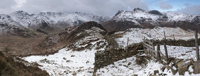 Winter Panorama from Lingmoor Fell