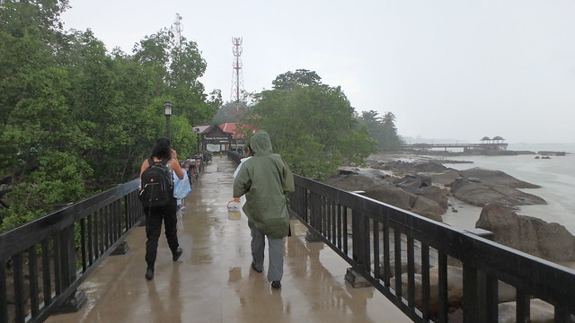 Surveying Pulau Ubin in the rain
