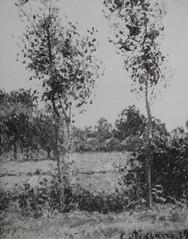 Paysan dans le pré, Eragny (C Pissarro - PDRS 1500)