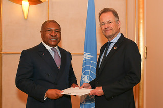 NEW PERMANENT REPRESENTATIVE OF THE REPUBLIC OF THE CONGO PRESENTS CREDENTIALS TO DIRECTOR-GENERAL OF UNITED NATIONS OFFICE AT GENEVA