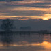 Reflecting on sunset