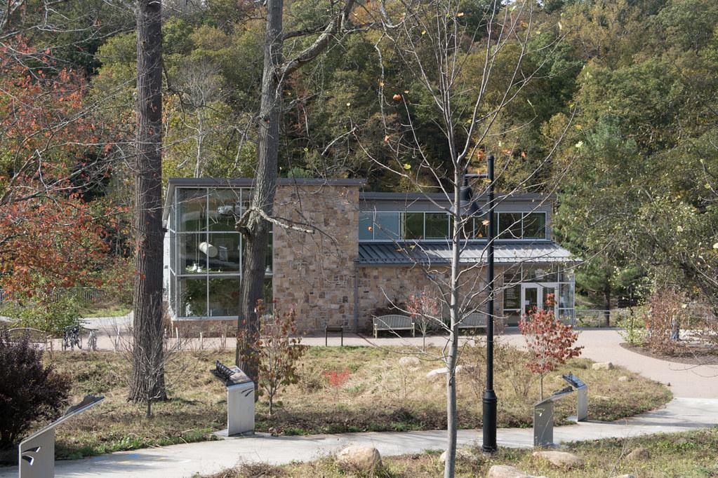 Vistor Center Building Exterior at Ohiopyle