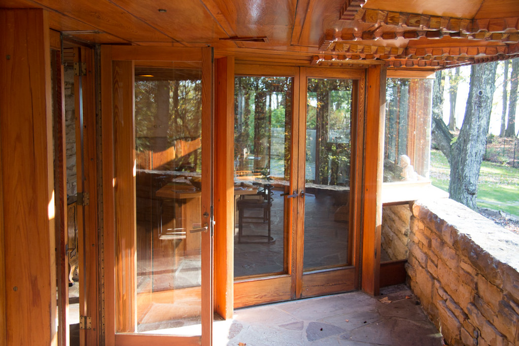 Patio doors at Kentuck Knob