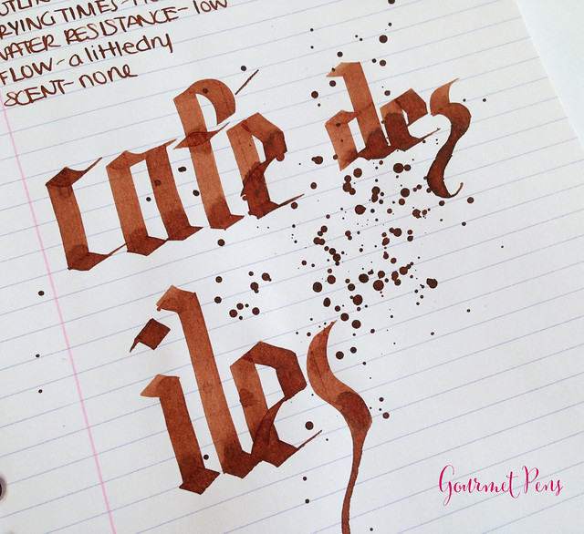 Ink Shot Review J. Herbin Café des îles @KnightsWritingC 7