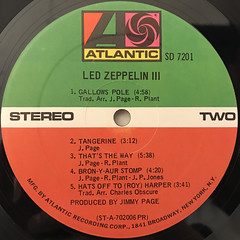 LED ZEPPELIN:LED ZEPPELIN III(LABEL SIDE-B)