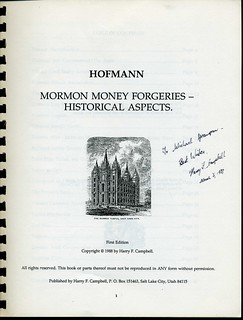 Mormon Money Forgeries cover