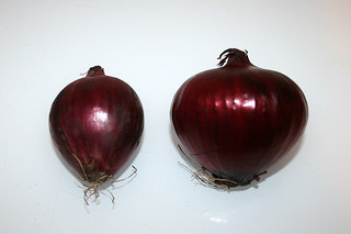 04 - Zutat rote Zwiebeln / Ingredient red onions