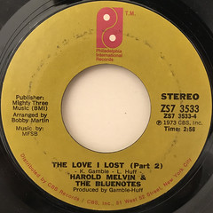 HAROLD MELVIN & THE BLUENOTES:THE LOVE I LOST(LABEL SIDE-B)