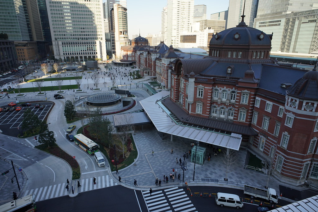 "Tokyo station from ""KITTE"""