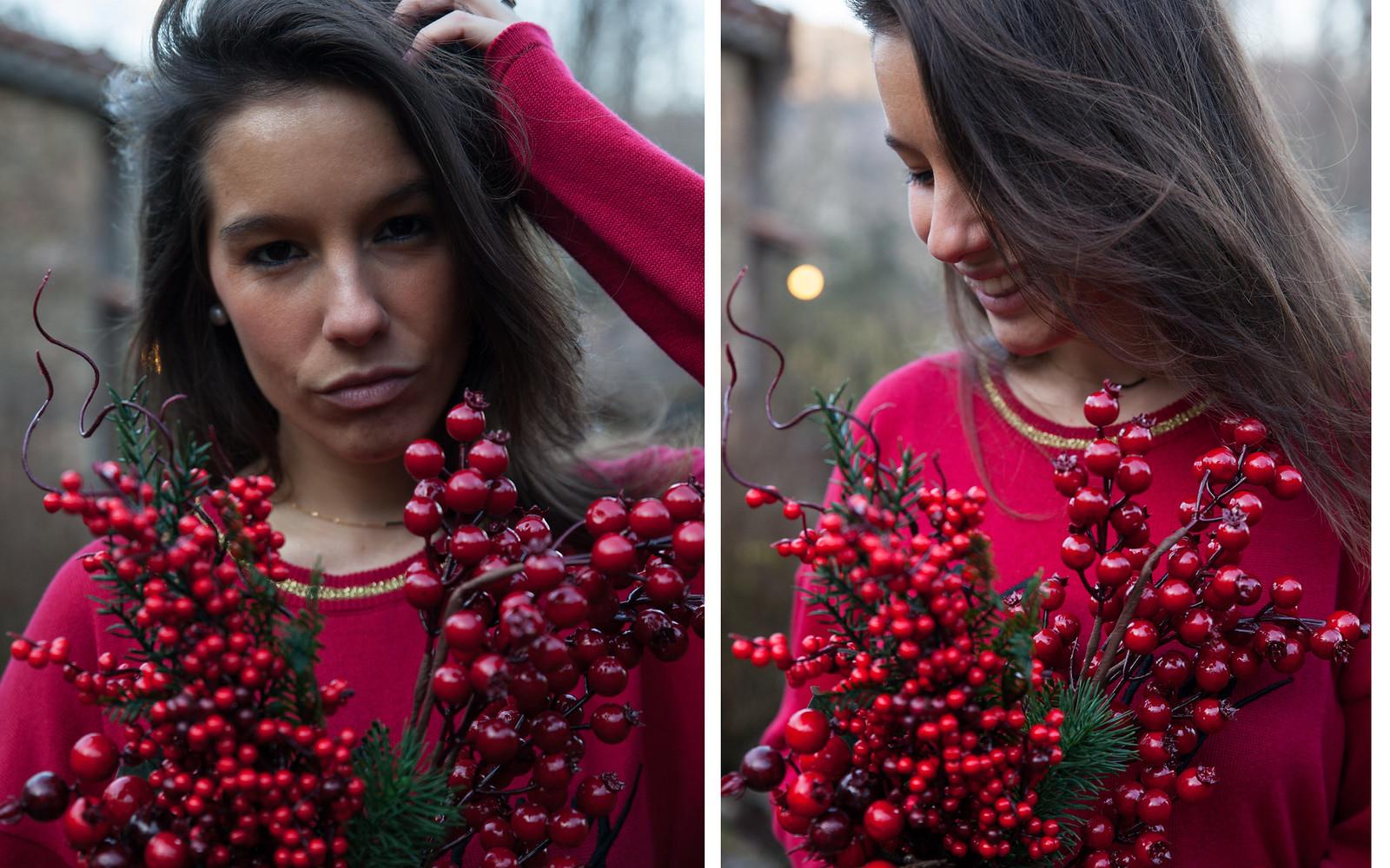 todo al rojo estas Navidades rüga pull merry kiss mas theguestgirl laura santolaria look navideño