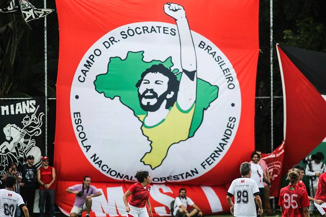 When in the Corinthians club, Sócrates led the drive to create a workers' cooperative, one where every worker took decisions for the club - Créditos: Joca Madruga