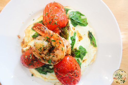 Shrimp and Spinach Frittata with Tomatoes