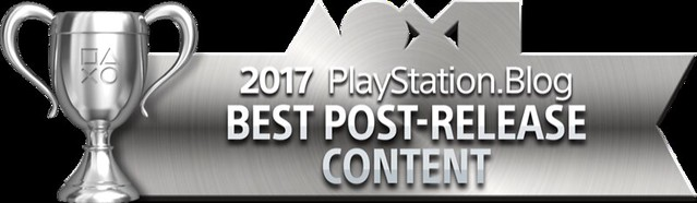 PlayStation Blog Game of the Year 2017 - Best Post-Release Content (Silver)