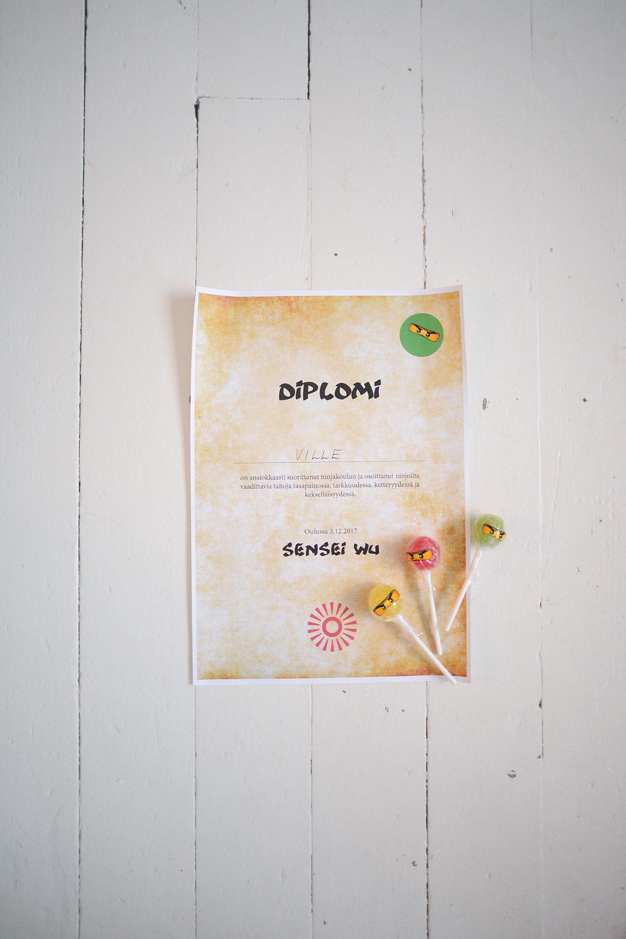 Ninja school diploma