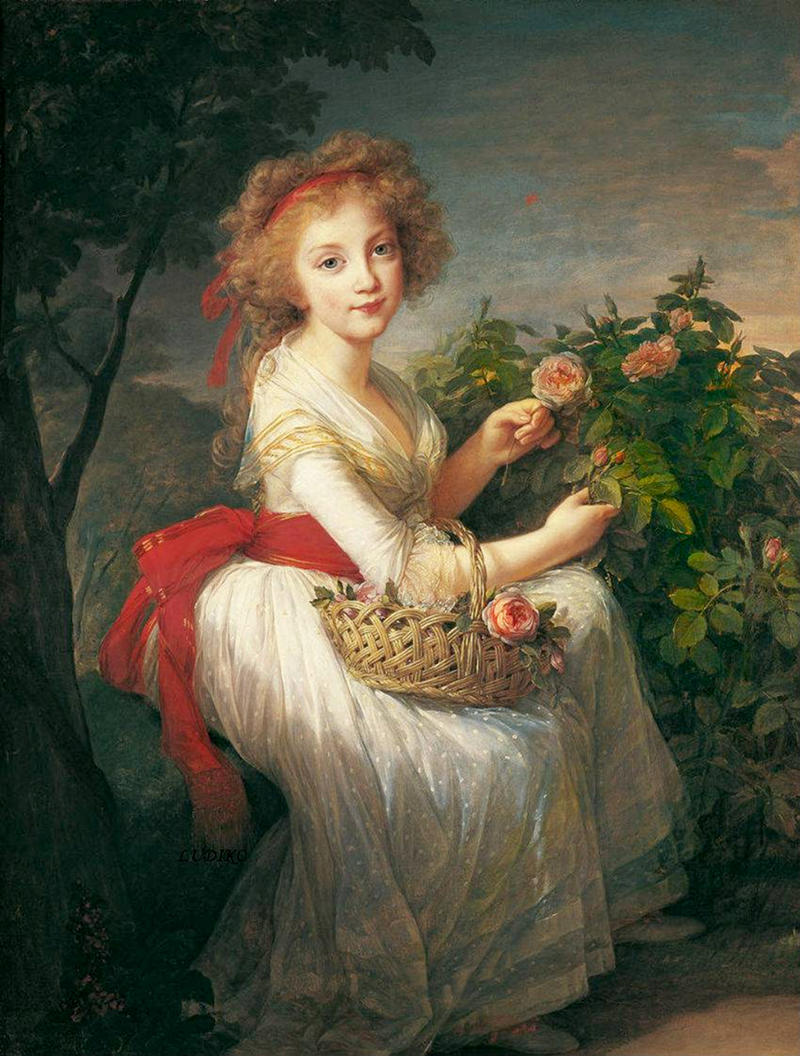 Princess Maria Cristina di Borbone by Élisabeth Vigée-Lebrun, 1790