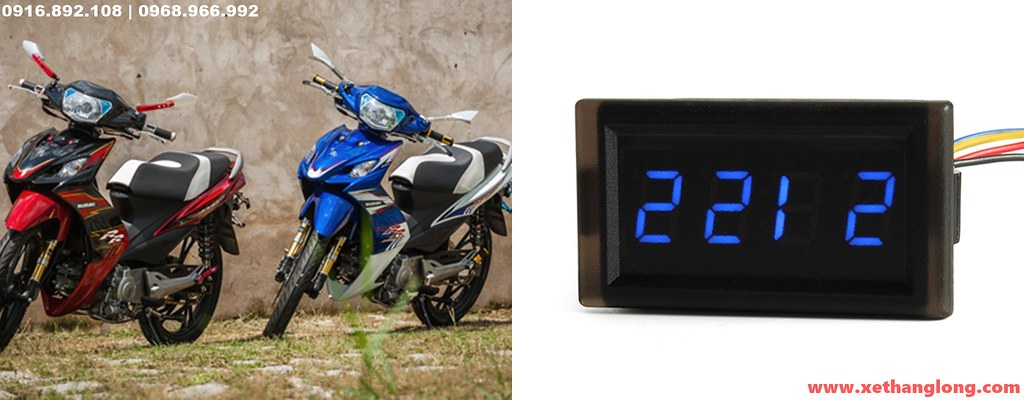 Đồng hồ xem giờ cho xe máy Suzuki