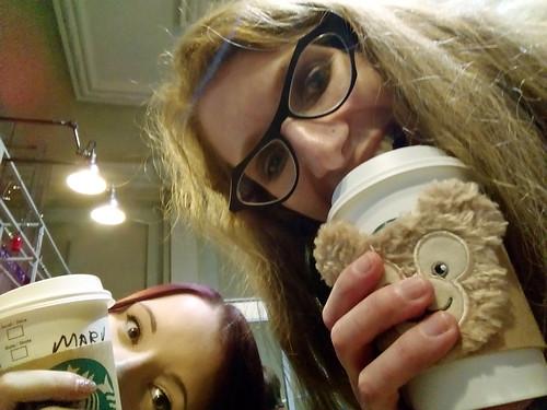 silly Starbucks selfie
