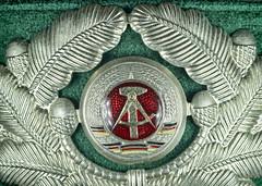 East German Border Guard Hat (Officer) Wreath Insignia Macro