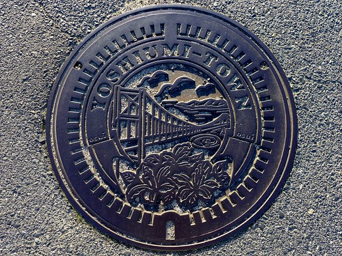 Yoshiumi Ehime, manhole cover (愛媛県吉海町のマンホール)