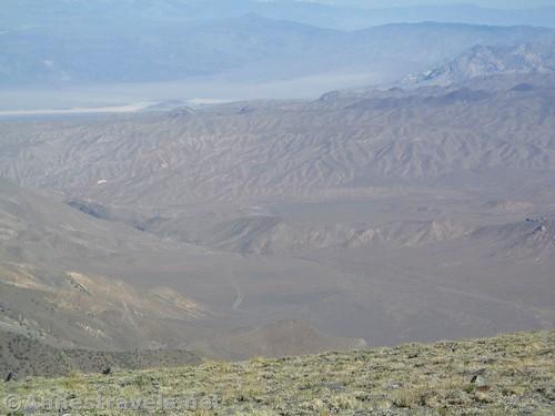 Wild landscape below Rogers Peak in Death Valley National Park, California