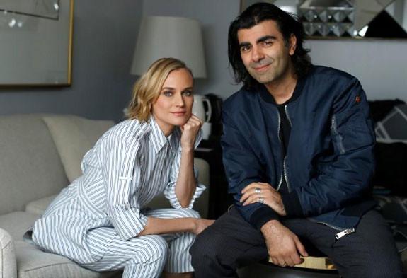المخرج اكين مع الممثلة ديان
