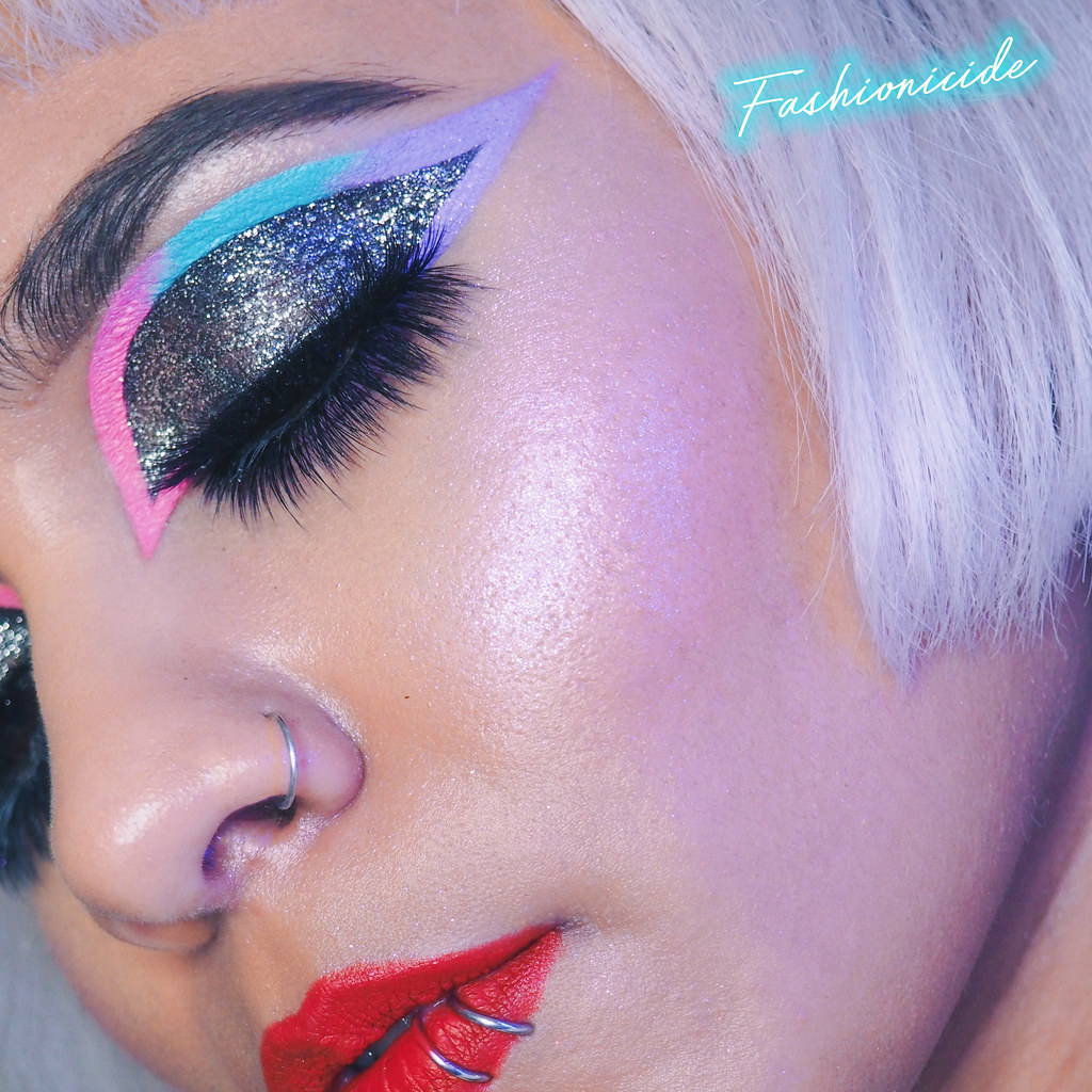 Ombre Fade Graphic Eyeliner Jeffree Star Breakfast at Tiffany's Lime Crime Velvetines Flamingo