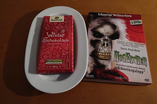 "Winterschokolade (von Alnatura) zum Film ""Terry Pratchett's Hogfather"""