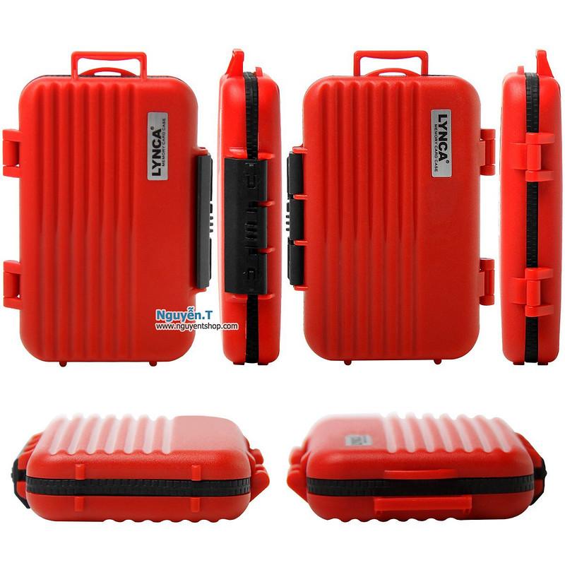 Hộp thẻ nhớ LYNCA KH6 chống nước 4CF +  8SD + 12micro SD_Canon Red