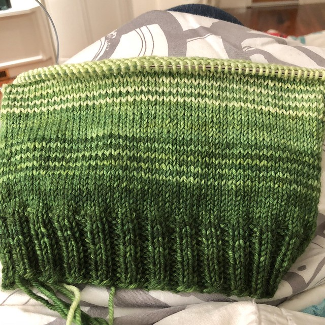 Hat in progress