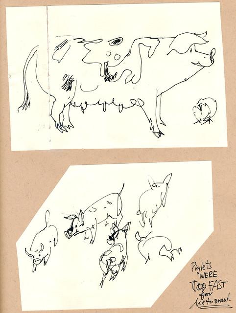 Sketchbook #109: Visiting Pigs