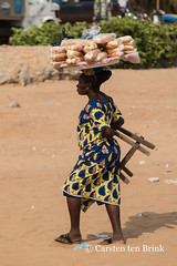 Just walking - vendor, bead and stool