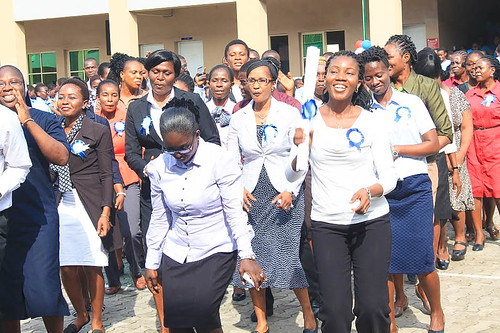 World Teachers' Day being celebrated in Marywood Girls college on October 5, 2017
