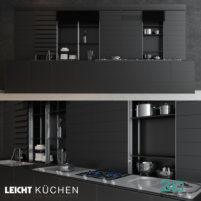 14. Leicht Kitchen   3D Mili   Download 3D Model   Free 3D Models   3D  Model Download