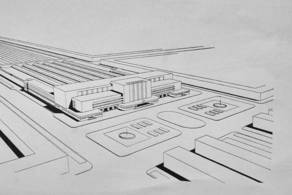 Plan pour la reconstruction de la gare de Lwow - Expo sur le modernisme à Lwow au MCK à Cracovie.